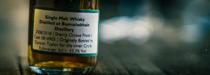 "Bunnahabhain 2008 DT for ""The Inner Circle"", 53,3%"